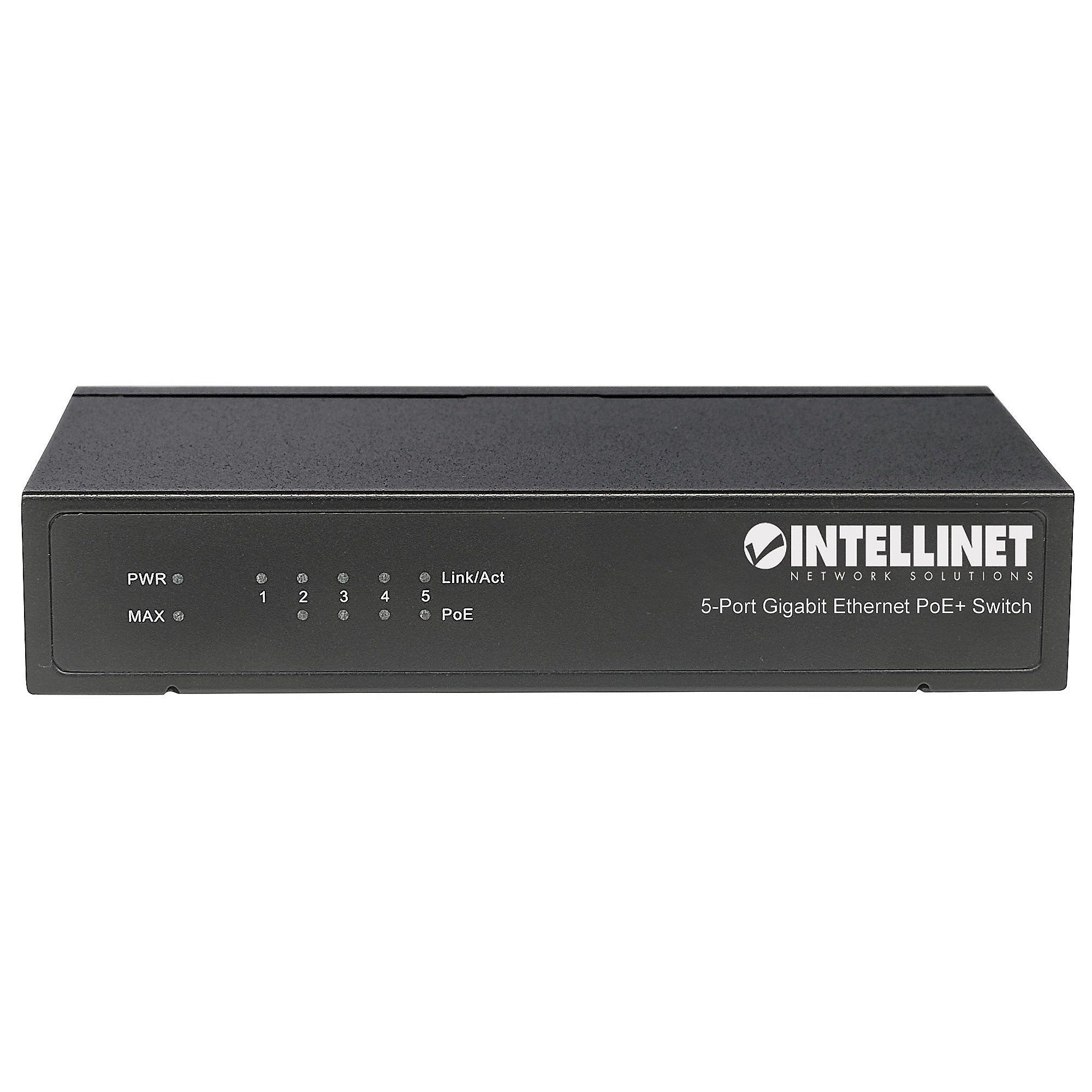 Intellinet 5-Port PoE+ Gigabit Switch mit PoE Passthrough 60W 4xPSE