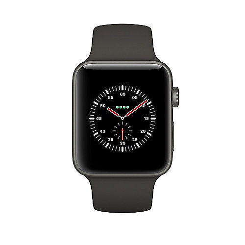 Apple Watch Edition Series 3 LTE 38mm Keramikgehäuse Grau Sportarmband Grau