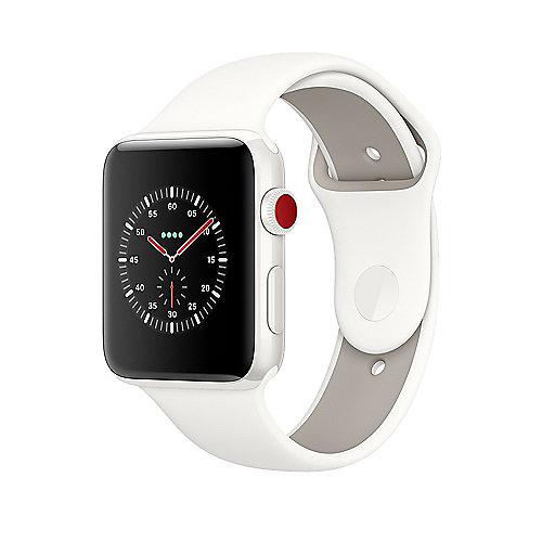 Apple Watch Edition Series 3 LTE 42mm Keramikgehäuse Weiß Sportarmband Weiß