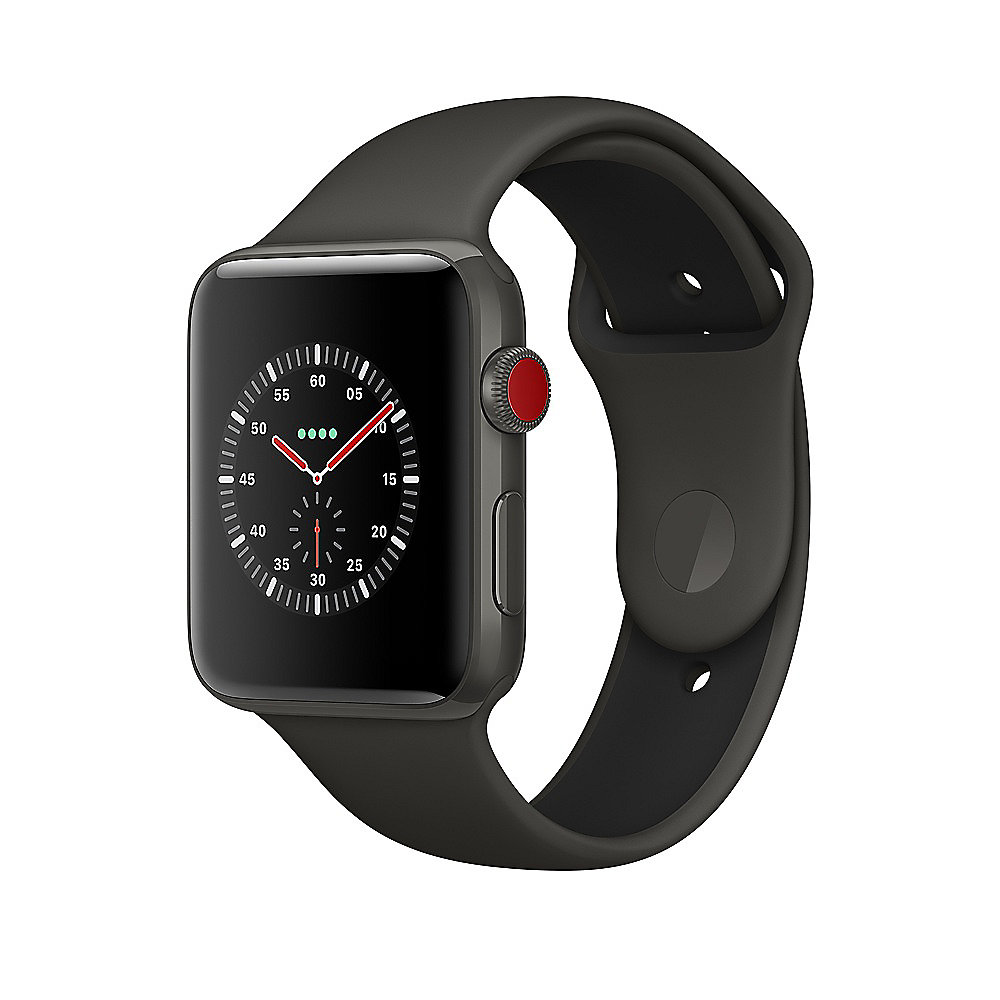Apple Watch Edition Series 3 LTE 42mm Keramikgehäuse Grau Sportarmband Grau