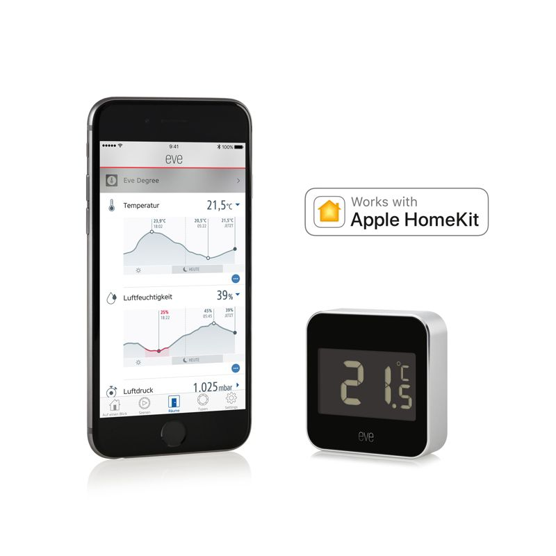 Elgato Eve Degree Vernetzte Wetterstation für Apple HomeKit