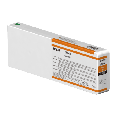 Epson  C13T804A00 Druckerpatrone 700ml Orange T804A00 UltraChrome   0010343917569