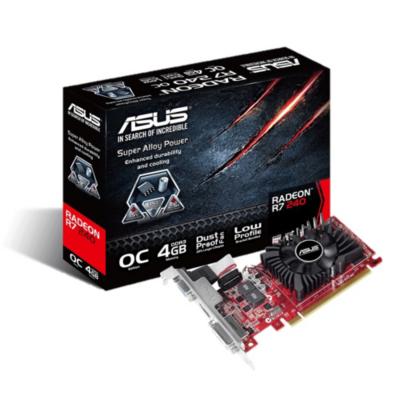 Asus  AMD Radeon R7 240 OC 4GB DDR3 Grafikkarte DVI/HDMI/VGA, Low Profile | 4716659732945