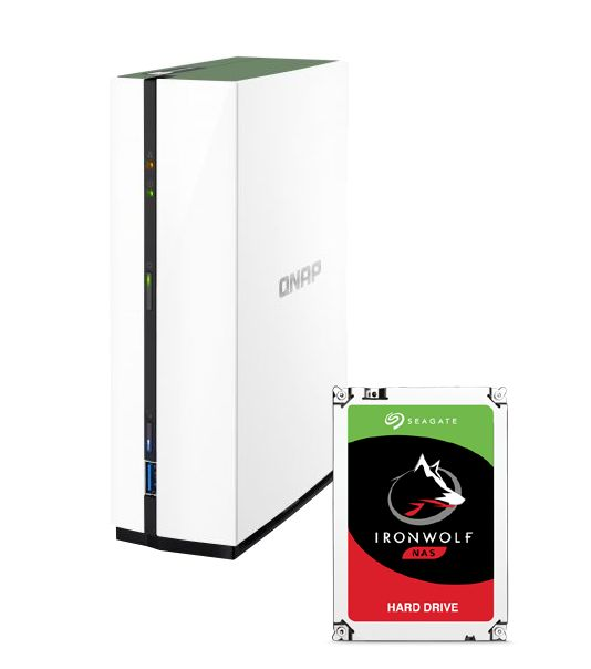 QNAP TS-128A NAS System 1-Bay 1TB inkl. 1x 1TB Seagate ST1000VN002