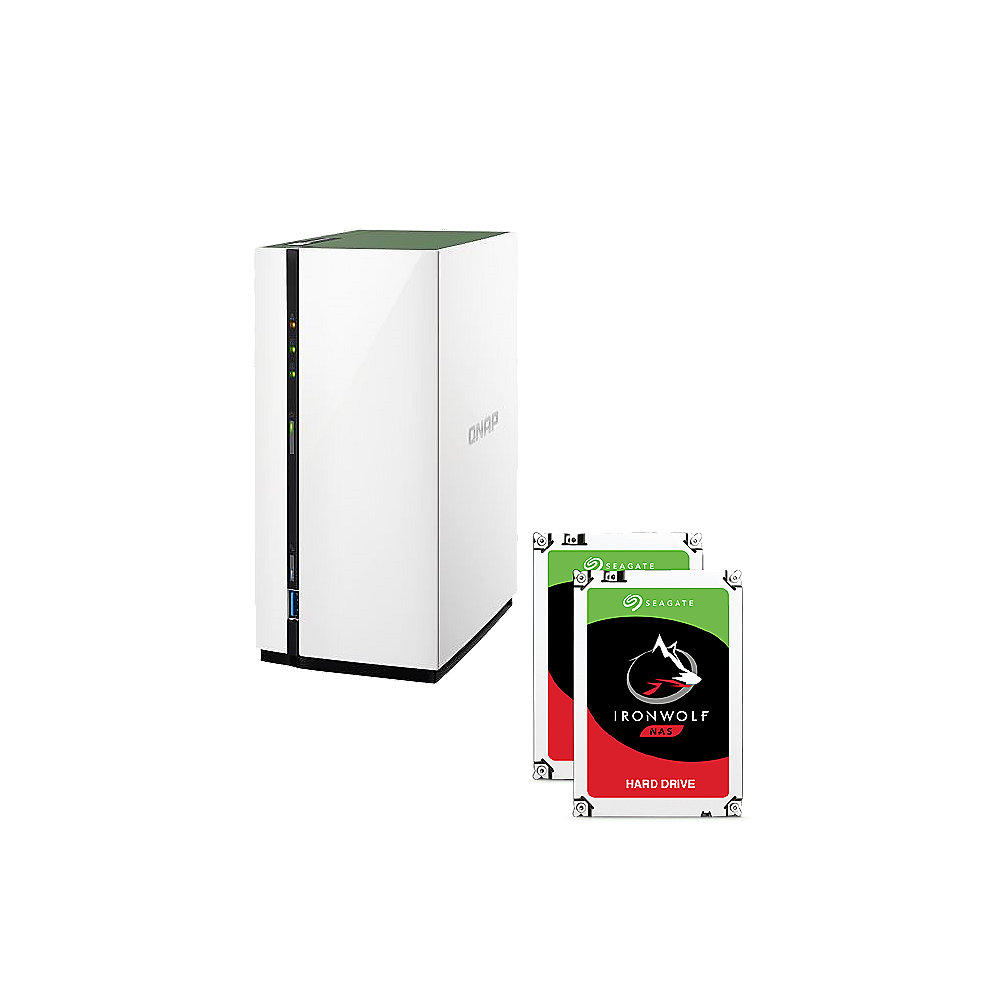 QNAP TS-228A NAS System 2-Bay 2TB inkl. 2x 1TB Seagate ST1000VN002