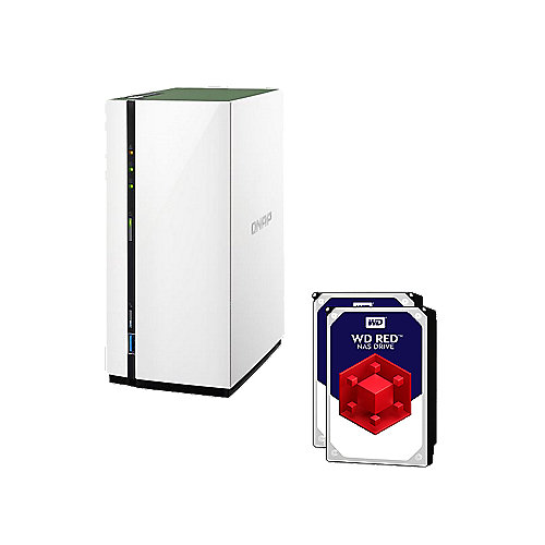 QNAP TS-228A NAS System 2-Bay 2TB inkl. 2x 1TB WD RED WD10EFRX