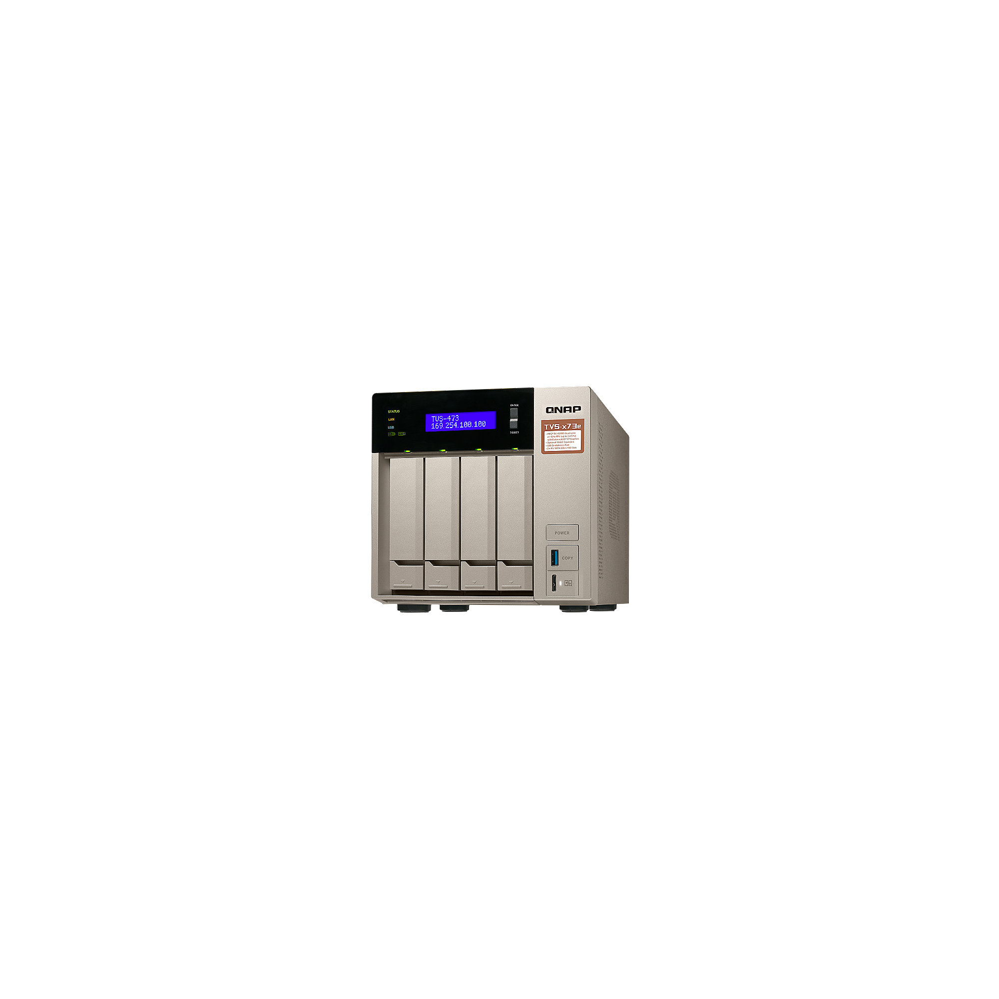 QNAP TVS-473e-4G NAS System 4-Bay 4TB inkl. 4x 1TB Seagate ST1000VN002