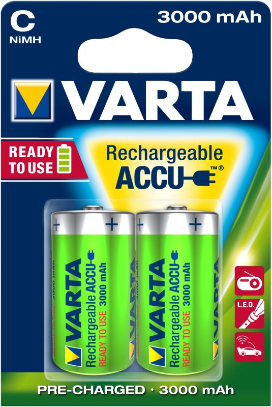 VARTA Ready2Use Akku Baby C HR14 2er Blister (3000mAh)