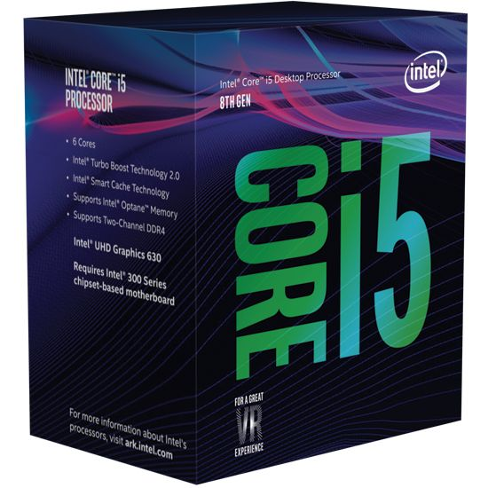 Intel Core i5-8400 6x2,8 (Boost 4,0) GHz 9MB-L3 Cache Sockel 1151 (Coffee Lake)