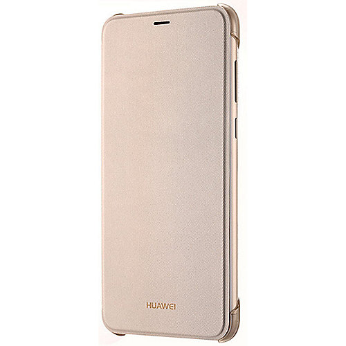 Huawei Flip Cover für P smart, gold