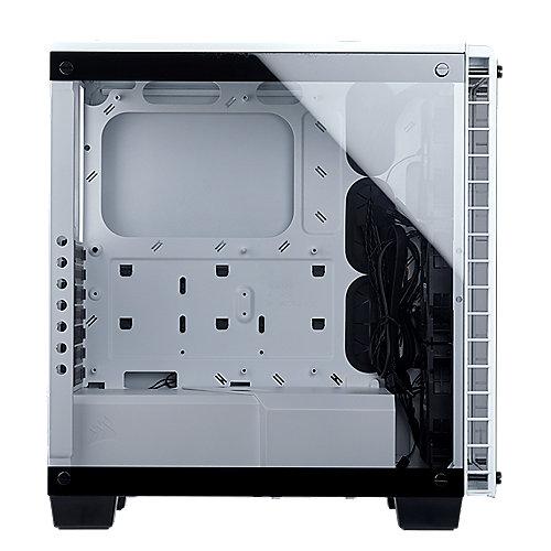 Corsair Crystal 460X RGB Weiß Midi Tower ATX Gehäuse mit gehärtetem Glas | 0843591064231