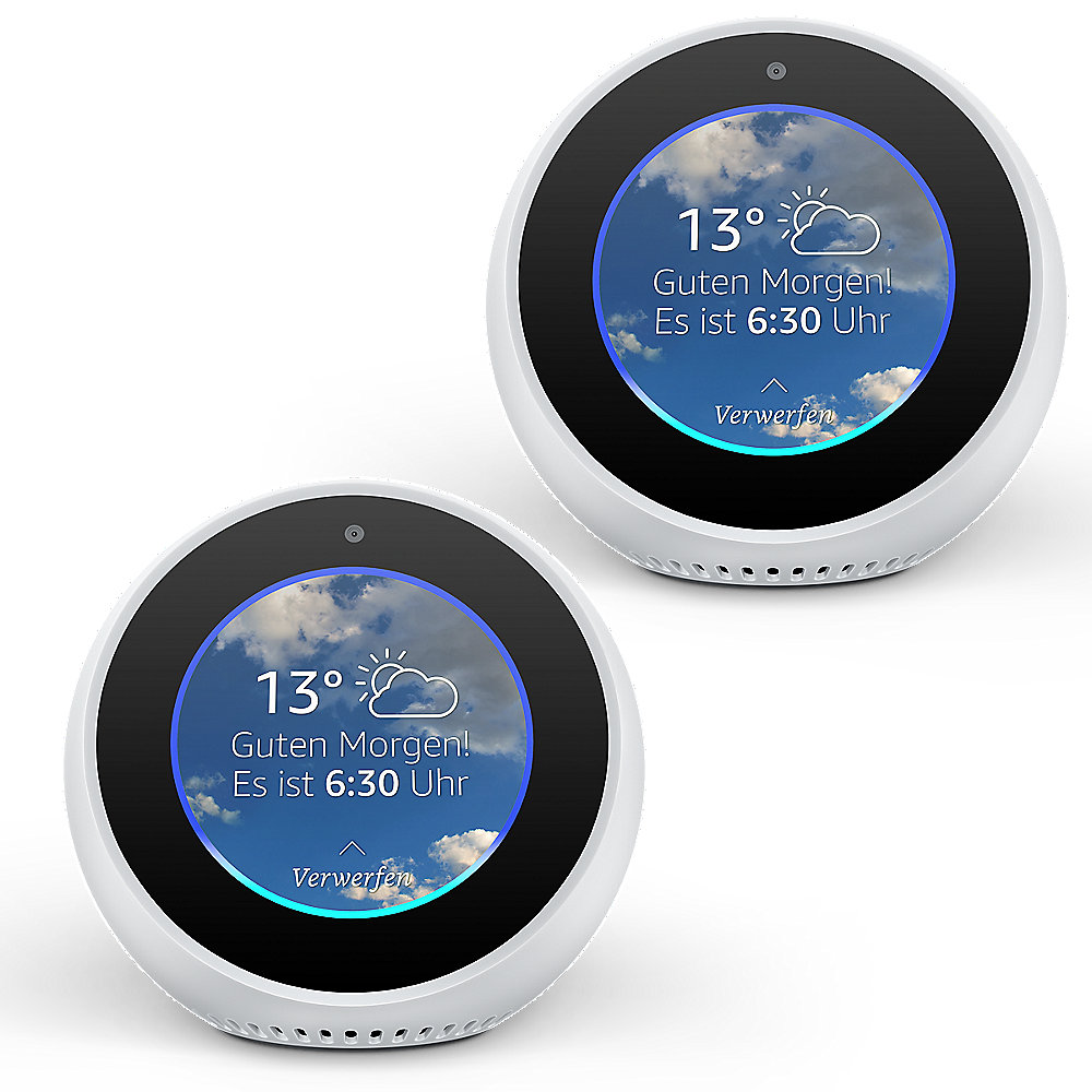 Amazon Echo Spot 2er Set - weiß