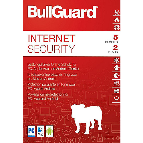 BullGuard Internet Security 2018 5 Devices 2 Jahre - ESD