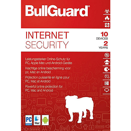 BullGuard Internet Security 2018 10 Devices 2 Jahre - ESD