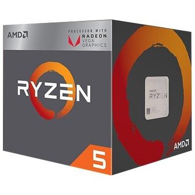 AMD  Ryzen R5 2400G (4x 3,6 GHz) 6MB Sockel AM4 CPU BOX (Wraith Stealth Kühler) | 0730143309080