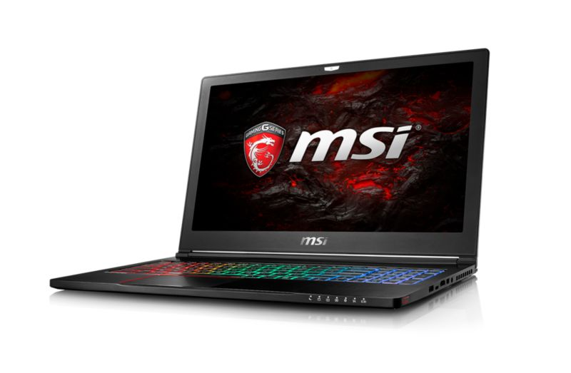 "MSI GS63 7RD-225 Stealth  i7-7700HQ 16GB/256GB SSD 15"" FHD GTX1050 W10"