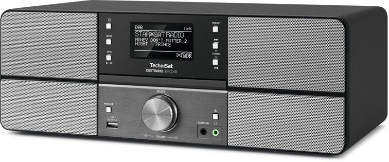 TechniSat DIGITRADIO 361 CD IR, anthrazit, DAB+/UKW/Internet-Radio mit CD