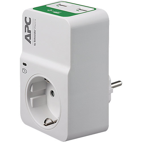 APC Essential SurgeArrest 1 Outlet 230V 2 Port USB Charger PM1WU2-GR