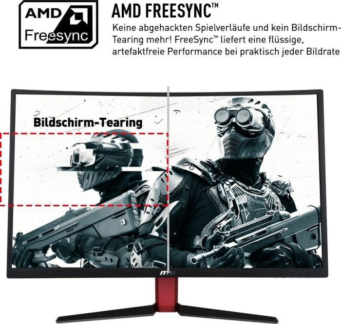"MSI Optix AG32C-3086 31,5cm (80"") FHD curved Gaming-Monitor FreeSync 165Hz 1ms"