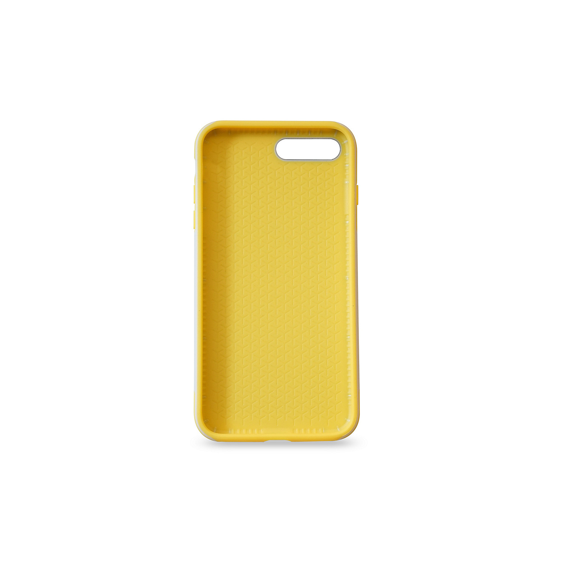 KMP Sporty Case für iPhone 8 Plus, grau/gelb
