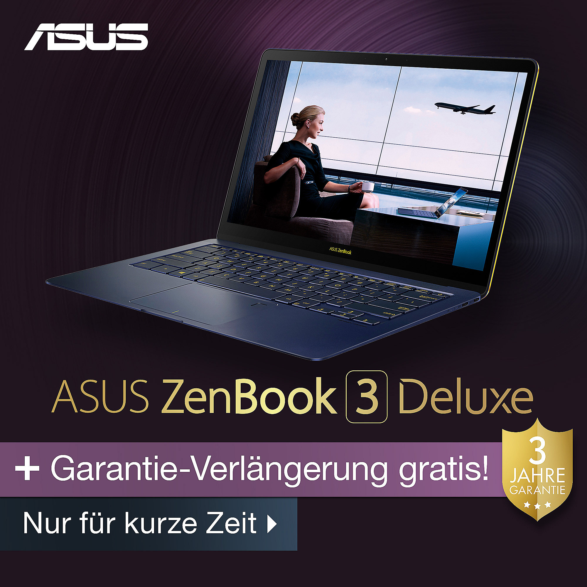 "Asus ZenBook 3 Deluxe i5-7200U 8GB/256GB SSD 14"" FHD W10"