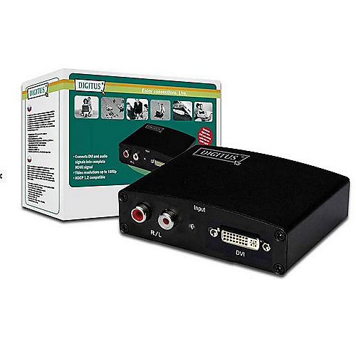 DIGITUS Multimedia DVI/Audio zu HMDI Converter DS-40230