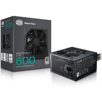 Cooler Master  MasterWatt Lite v2 600 Watt Netzteil 80+ White 120mm Lüfter | 4719512061060