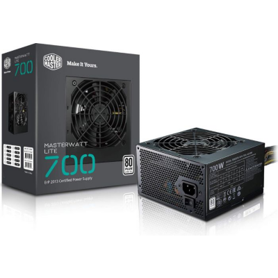 Cooler Master  MasterWatt Lite v2 700 Watt Netzteil 80+ White 120mm Lüfter | 4719512061077