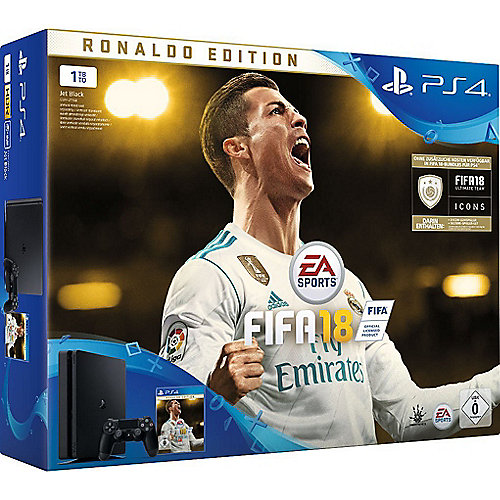 Sony PlayStation 4 Slim 1TB + FIFA 18 Ronaldo E...