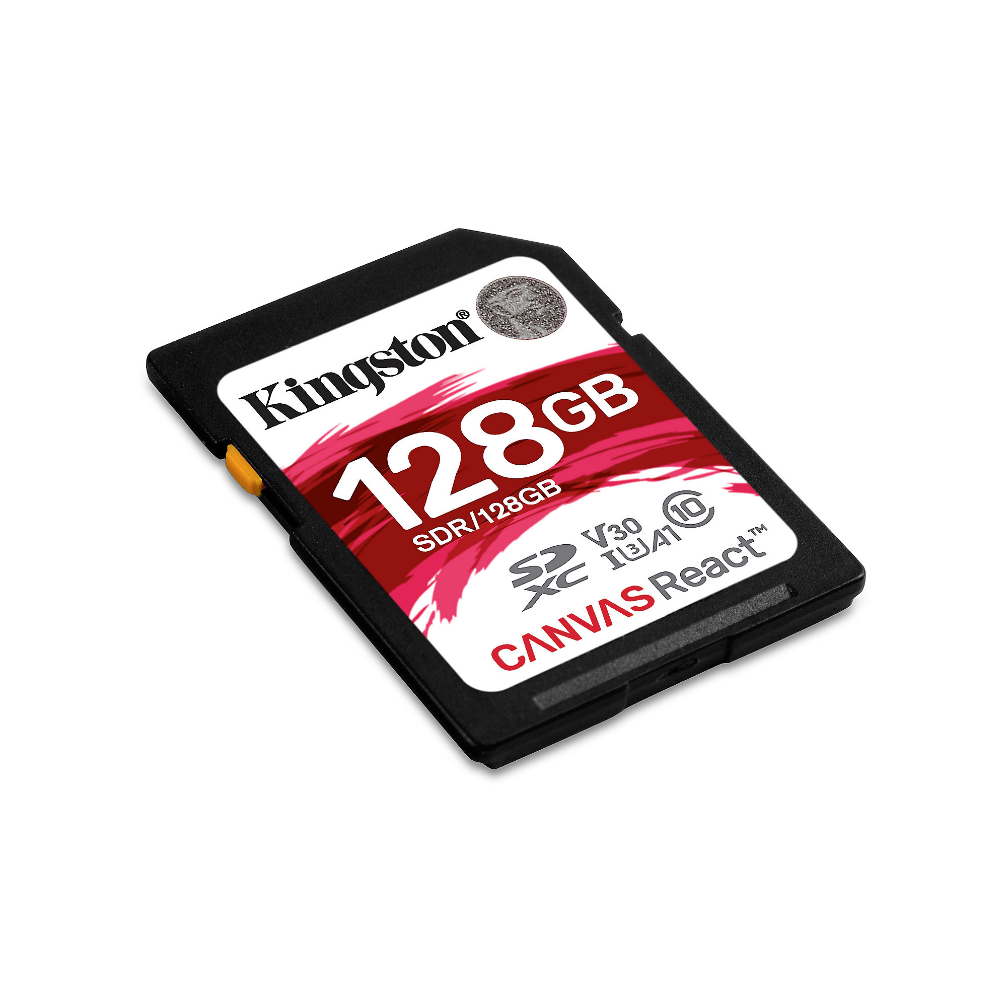 Kingston Canvas React 128 GB SDXC Speicherkarte (80 MB/s, Class 10, V30, A1)