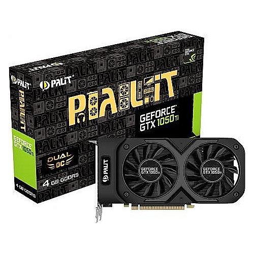 Palit GeForce GTX 1050Ti Dual OC 4GB GDDR5 Grafikkarte DVI/HDMI/DP | 4710636269394