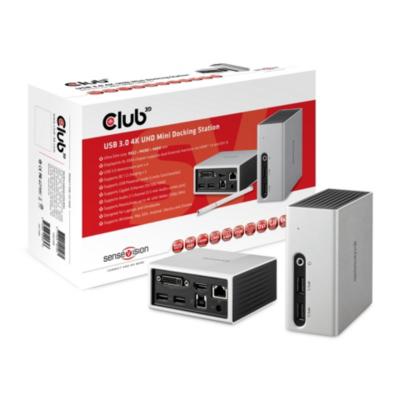 Club3d Club 3D USB 3.0 4K UHD Mini Docking Station CSV-3104D | 8717249401261