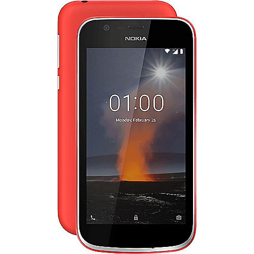 Nokia 1 8GB warm red Dual-SIM Android 8.1 Go Edition Smartphone