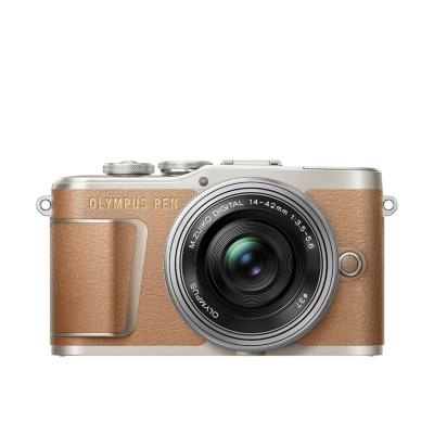 Olympus  PEN E-PL9 Kit 14-42mm EZ Pancake Systemkamera braun | 4545350051877