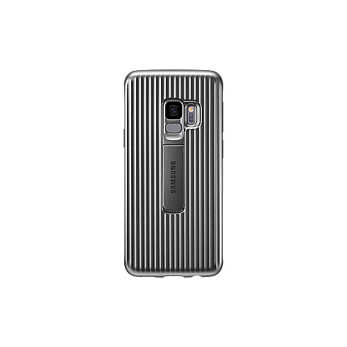 Samsung EF-RG960 Protective Standing Cover für Galaxy S9 silber