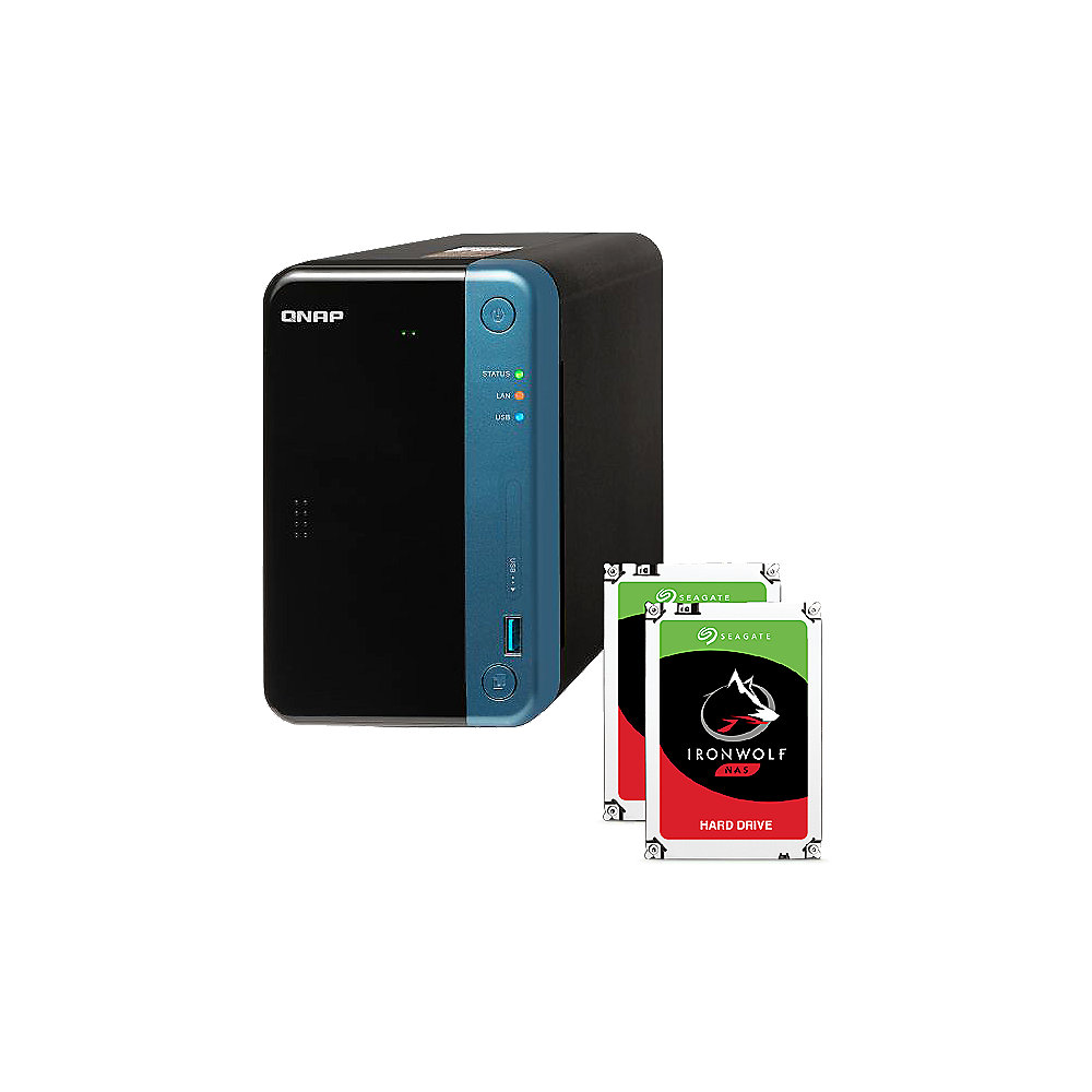 QNAP TS-253Be-4G NAS System 2-Bay inkl. 2x 1TB Seagate ST1000VN002
