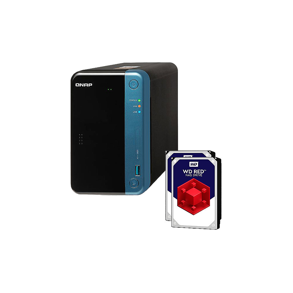QNAP TS-253Be-4G NAS System 2-Bay 6TB inkl. 2x 3TB WD30EFRX