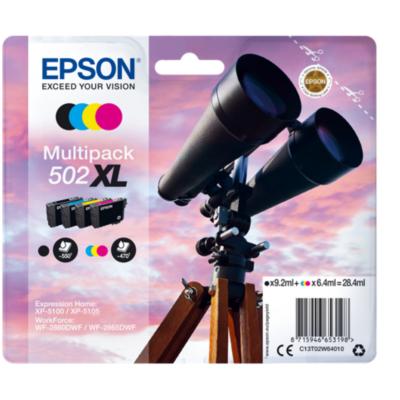 Epson  C13T02W64010 Druckerpatronen Multipack 502 XL (BK, C, M, Y) | 8715946653198