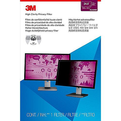 3M HC240W9B Blickschutzfilter High Clarity für 24 Zoll (61cm) 16:9 98044065534 | 0051128008034