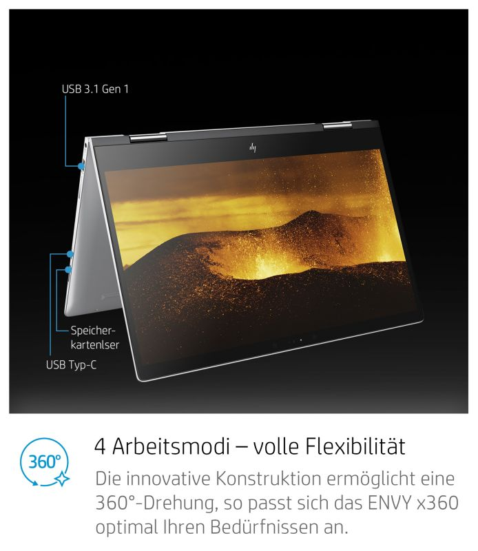 "HP Envy x360 15-bp104ng i7-8550U 8GB/1TB+256GB SSD 15"" FHD MX150 W10 FC"