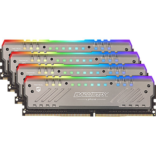 32GB (4x8GB) Ballistix Tactical Tracer RGB DDR4-2666 CL16 RAM Speicher Kit