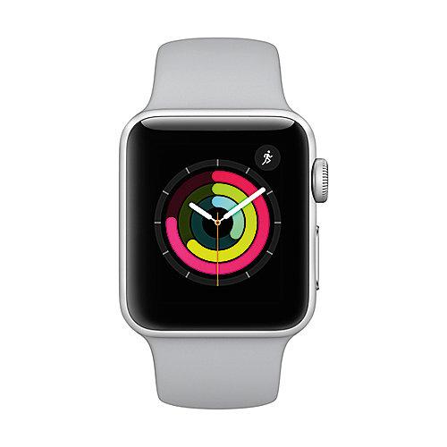 Apple Watch Series 3 GPS 38mm Aluminiumgehäuse Silber mit Sportarmband Nebel