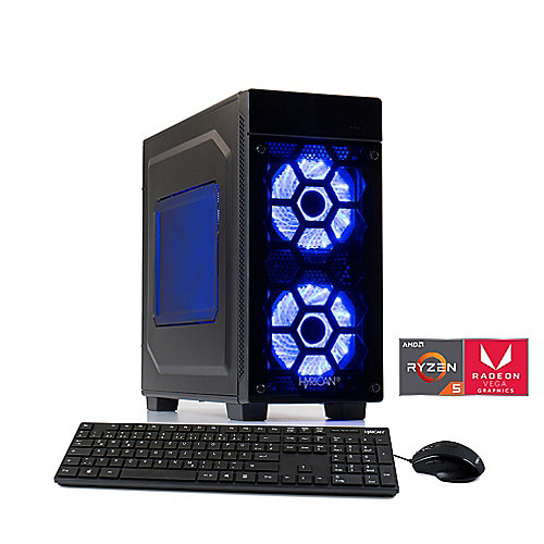 CP1125-3Q3 Hyrican Striker Gaming PC 5845 Ryzen 5 2400G 16GB 1TB 240GB SSD Vega