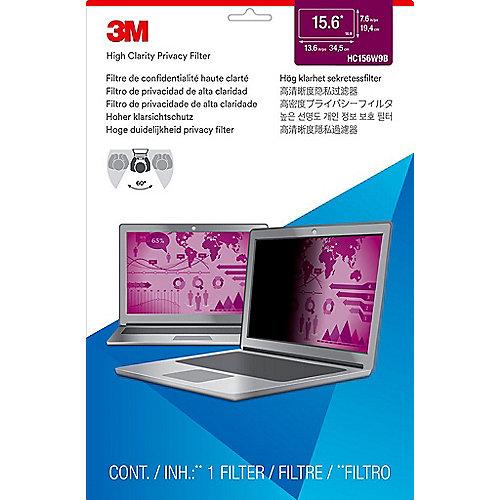 3M HC156W9B Blickschutzfilter High Clarity für 15,6 Zoll (39,6cm) 98044065492 | 0051128007990