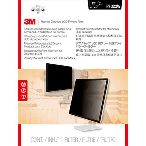 3M PF220W1F Blickschutzfilter mit Rahmen für 22 Zoll (55,88cm) 16:10 98044049132 | 0051128788356