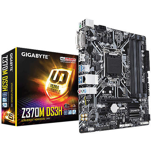 Gigabyte Z370M-DS3H mATX Mainboard 1151 (Coffee Lake) | 4719331802622