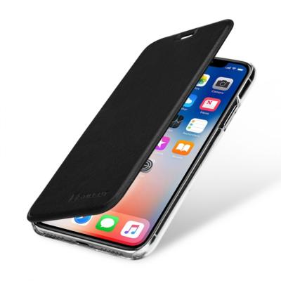 Stilgut  Book Type mit NFC/RFID Blocker für Apple iPhone X, schwarz/transparent | 4260272071498