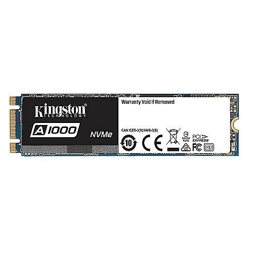Kingston A1000 SSD M.2 480GB NVMe TLC – 80mm   0740617277319