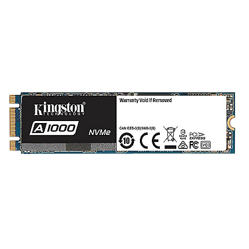 Kingston A1000 SSD M.2 480GB NVMe TLC - 80mm