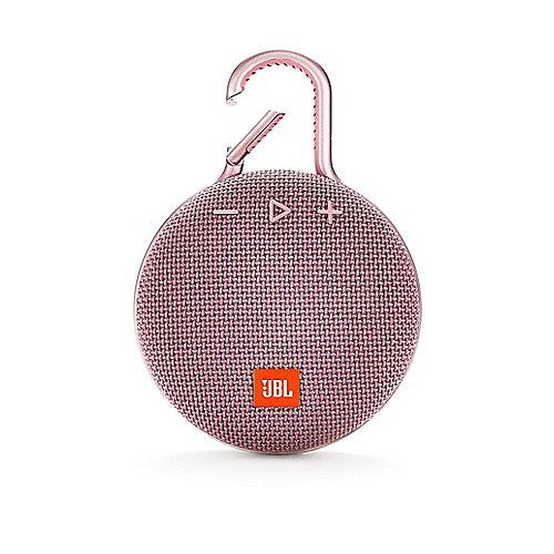 Clip 3 Pink Tragbarer Bluetooth-Lautsprecher Pink wasserdicht nach IPX7 | 6925281933103